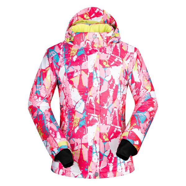 2017 heißer Verkauf Schnee Jacken Frauen Ski Jacke Unterwäsche Outdoor Ski Winddicht Wasserdicht Ski Snowboard Mäntel Thermo ...