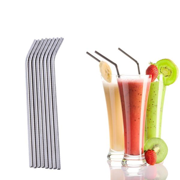 8 шт. Из нержавеющей стали питьевой соломинки для напитков многоразовые соломинки набор 3 многоразовые щетки для очистки комплект металлическая соломка винные аксессуары