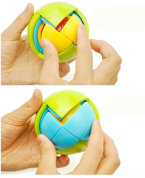 Wisdom Ball 3D Intelligence Magaic Ball Game Puzzle Ball Educational Toys for Kids IQ Training blocks toy smart maze DIY gift 2pcs