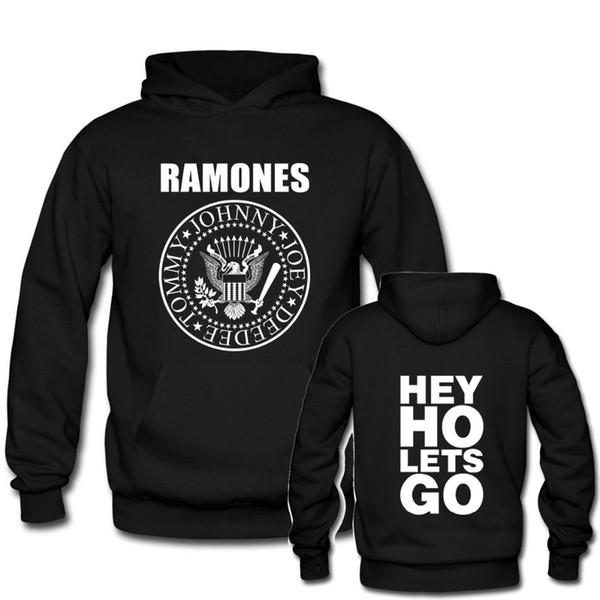 Großhandel Männer Frauen Mode Band Hoodies RAMONES Hey Ho Gehen Wir Schwarz Kastanienbraun Männlich Weiblich Casuals Marke Tops Von Blueberry15,