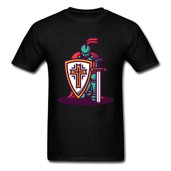 Brand New Hip Hop Tshirt For Men 2018 Fashion Clothing Monster Men T-shirt Awesome Japanese Anime Kneeling Knight T Shirt