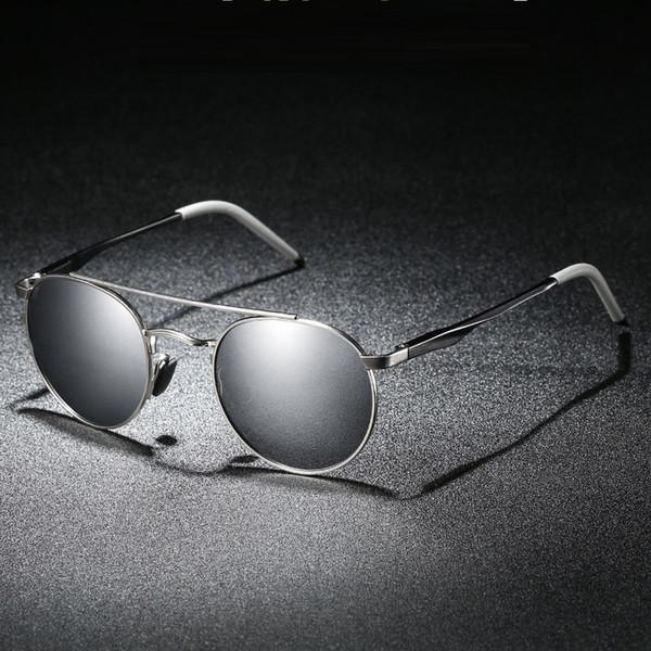 Occhiali da sole rotondi Vazrobe da uomo polarizzati Occhiali da sole specchiati per occhiali UV400 per occhiali da sole di marca maschile