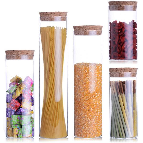 jar Transparent glass jars Seal jars Grains Bottles spice jar kitchen storage cans Kitchen Organization