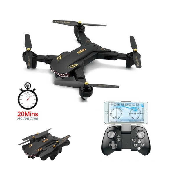 Nuovo XS809S Selfie Drone pieghevole con fotocamera HD da 2MP grandangolare WiFi FPV XS809HW RC Quadcopter aggiornato Mini droni Max Fly 20 Min.