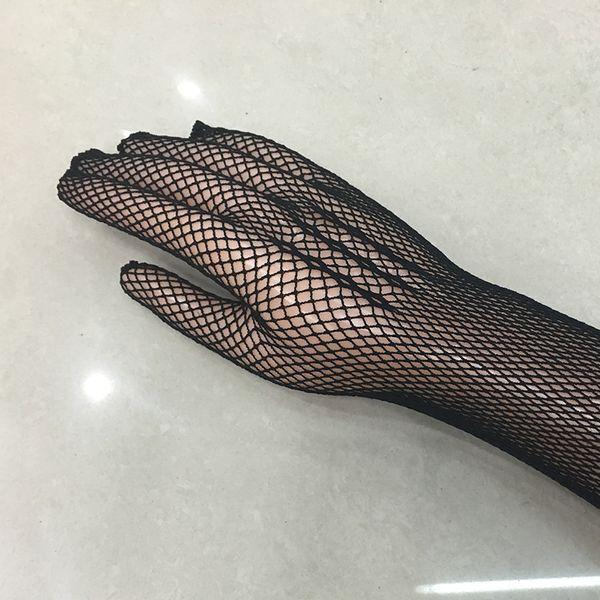 2016 neue Sexy Langarm Mesh Handschuhe Mesh Gauntlets Schwarz Schnürung Gloves Sexy Dessous Liturgie handschuhe 135