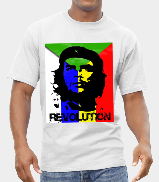 Che Guevara-Revolution-KUBA-LOGO-T-SHIRT FRUCHT DES LOOM-DRUCKES DURCH EPSON-Druckt-shirt Männer-Kurzschluss-Hülsen-SPITZEN-T-STÜCK Mode-Sommer