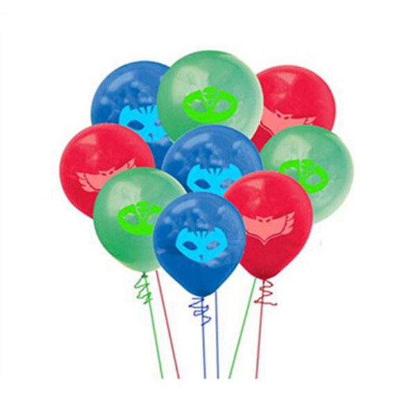 60Pcs/Lot Cartoon Party PJ masks balloon Characters Action Figure Toys Pajamas Party supplies Gift