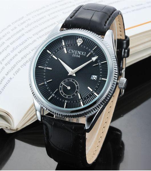 sell like hot cakes! High-end casual men's quartz watch belt business sports waterproof men's watch