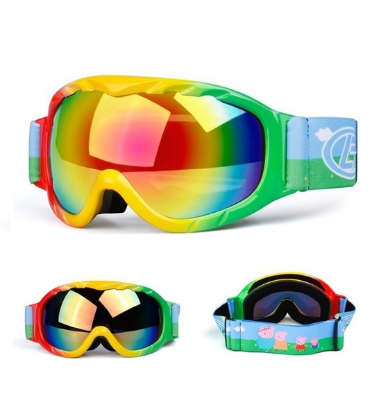 Kids Ski Goggles UV400 Double-Lens Spherical Mirror Anti-fog Ski Mask Children Skiing Glasses Boys Girls Snow Snowboard Glass