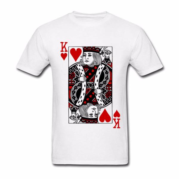 King of hearts Valentines Day T Shirt Camiseta Masculina Men's Clothes Cotton Big Size Short Sleeve Custom USSR T Shirts men