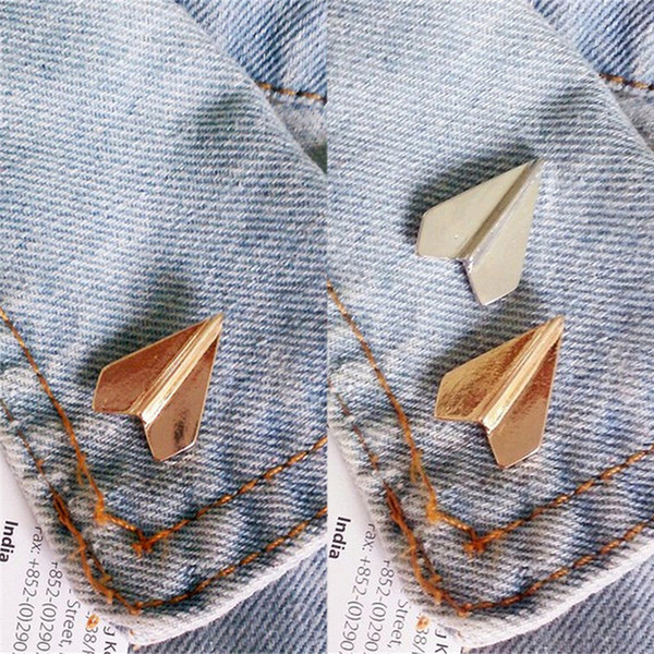 Fashion Jewelry Peculiar Novel Airplane Exquisite Brooch Pins Wholesale