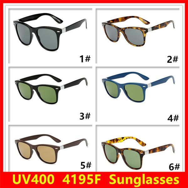 Luxury Brand Designer Sunglasses Men Woman Retro Glass Lenses UV Protection Sunglasses Reflective Coating Eyewear 6 Colors