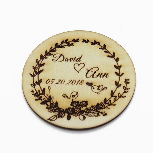 10pcs Personalized Engraved Wedding Wooden Gift Coasters Customized Drink Coffee Bar Coasters For Party Decor Favors 10x10cm
