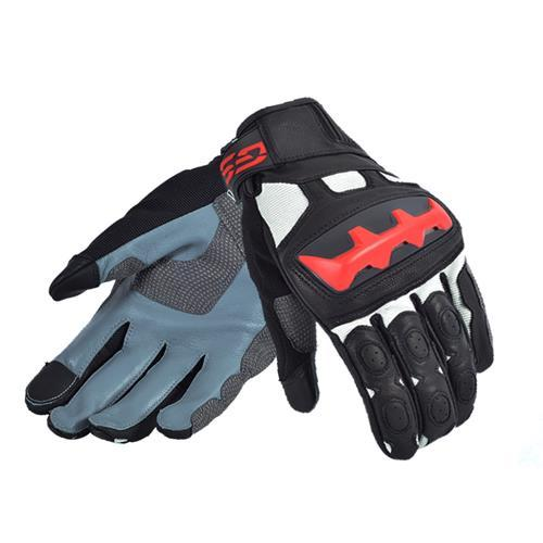 New Arrival 2018 Motorcycle GS Gloves for BMW Motorrad Black/Red Leather Gloves