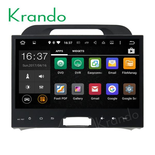 "Krando 9"" Android 7.1 car dvd radio gps navigation for Kia Sportage 2010-2014 audio palyer entertainment system WIFI 3G DAB+"