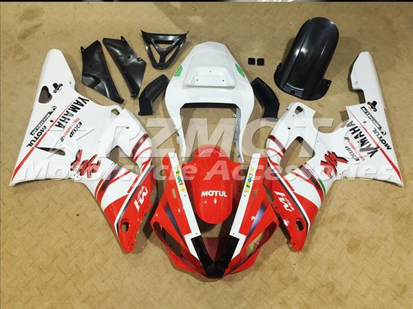Injection mold New Fairings For Yamaha YZF-R1 YZF R1 00 01 R1 2000-2001 ABS Plastic Bodywork Motorcycle Fairing Kit Red White Q2