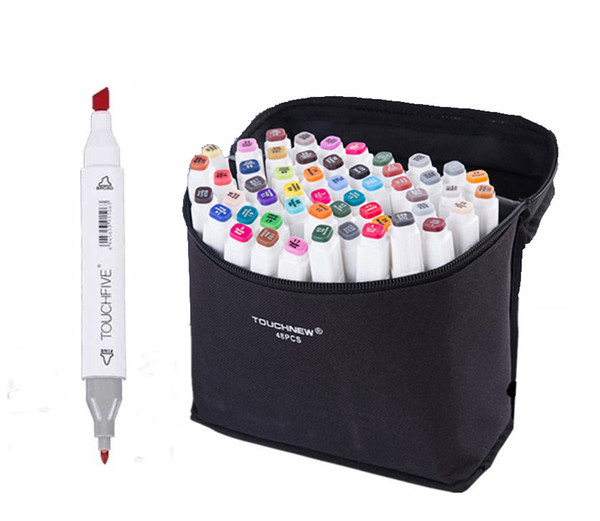 Touchfive 30 40 Colors Art Markers Pen Oily Sketch Art Supplies for Animation Manga Draw Brush luxury Pen Liners Dual Head Christmas gifts