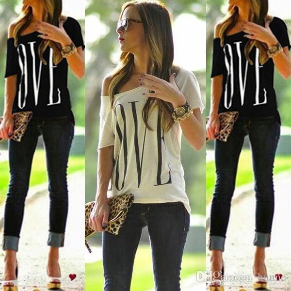 Wholesale-2016 New Women Lady Clothing T-Shirts Tops Loose Short Sleeve Cotton Casual Quality Shirt Tops Fashion Women Summer T-shirt