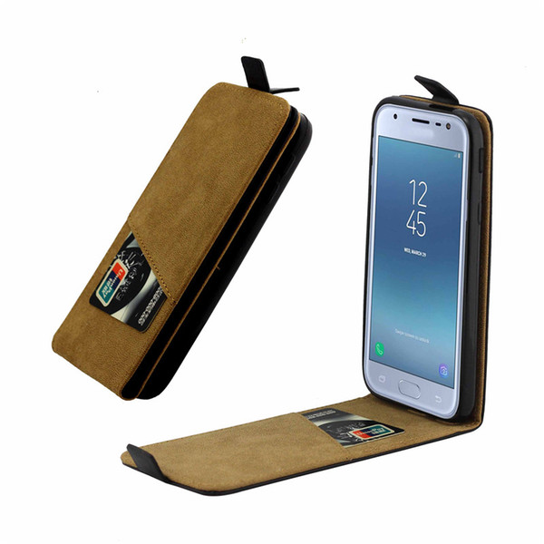 Business Leather Case For Samsung Galaxy J330 J3 2017 European Edition Vertical Flip Cover Card Slot Cases Phone Bags