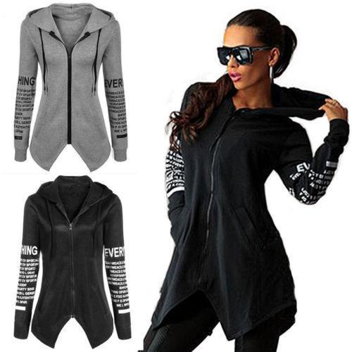 Neuer Winter-mit Kapuze Graben-Frauen-Herbst-Hoodie-Sweatshirt-Pullover-mit Kapuze Pullover-Oberseiten-Dame Fashion Casual Outdoor Long Zip Coat