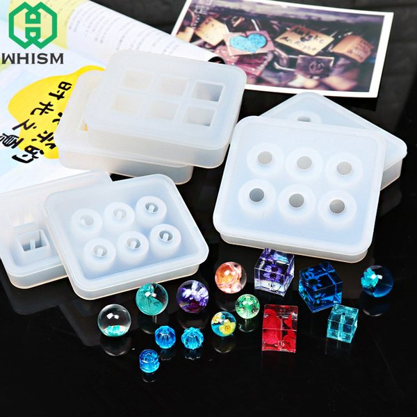 WHISM White Handmade Silicone Mould Cake Decorating Tools DIY Hand Craft Jewelry Making Mold Necklace Pendant Epoxy Resin Molds