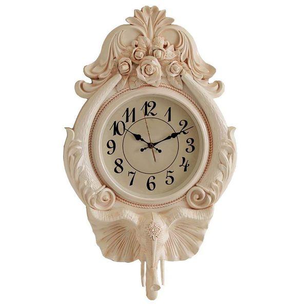 Großhandel Warme Gelbe Vintage Wanduhr, Wohnzimmer Stumm Pendeluhr Luxus  Home Kreative Wanduhren Europäischen Uhr Von Gcz1688, $213.3 Auf ...