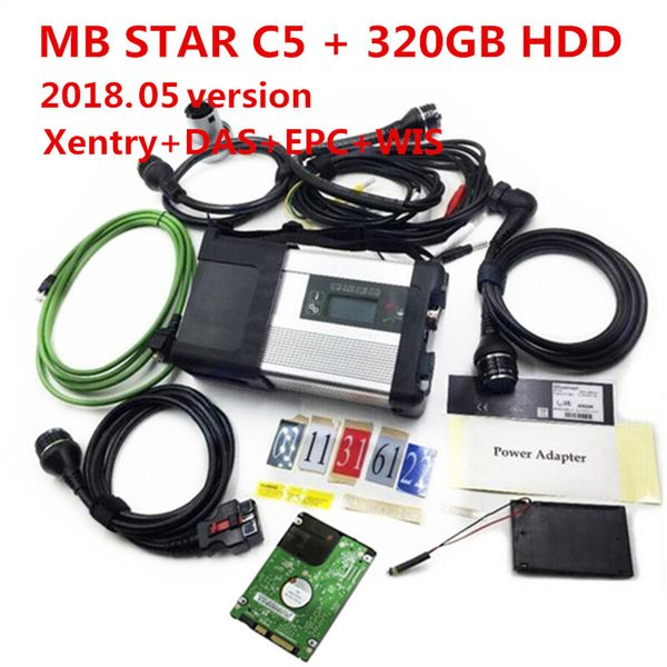 2018 Newly MB Star C5 wifi MB SD Connect Compact 5 Diagnostic tool for Mercedes benz Newest V2018.05 in 500MB HDD for Cars and Trucks