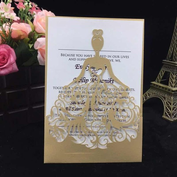 Laser Cut Lace White Wedding Card Wedding Invitations Elegant Wedding Invitations Cards Birthday Business Party Invitations Cards Samples Custom