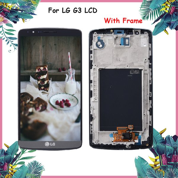"""ORIGINAL 5.5"""" Screen for LG G3 LCD Touch Screen Digitizer Assembly for LG G3 Display D850 D851 D855 Replacement"""