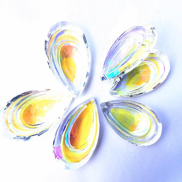10 adet / grup 63 MM Muhteşem Kristal Cam Avize Lamba Parçaları Prizma Asılı Damla Kolye Suncatcher Düğün Ev Süsleme