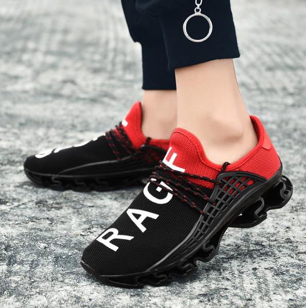 Venta caliente zapatos deportivos para caminar Letra RAGF SPORT Triple Zapatilla de verano Cuchilla de malla transpirable zapatos para correr al aire libre A253