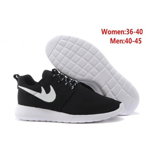 Compre Nike Roshe Run Venta Caliente Clásica Run Running Shoes Hombres  Mujeres Botas Bajas Negras Ligero Transpirable London Olympic Sports  Sneakers ...
