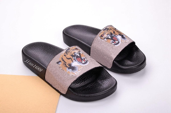 bengal tiger slide sandals for mens and womens fashion causal beach slippers indoor flats flip flops