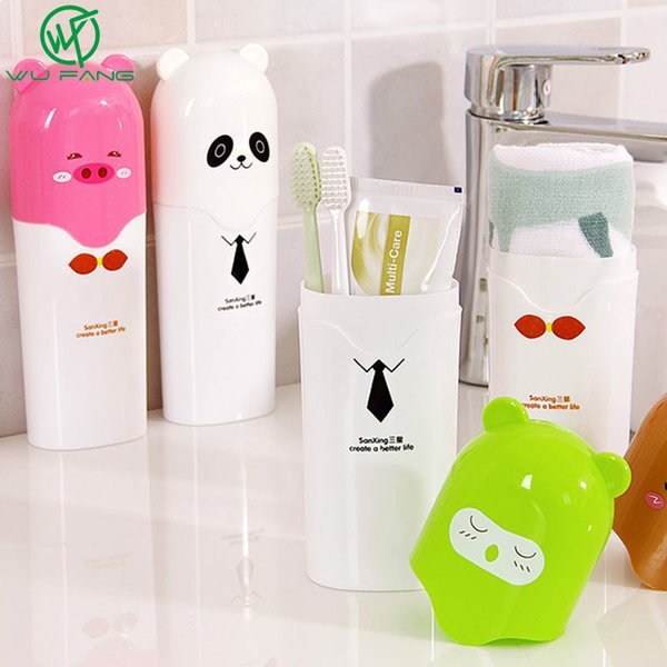 bath Cute Cartoon Children Toothbrush Bath Product Protect Toothbrush Case Holder Camping Portable Cover Travel Hiking Box Tube
