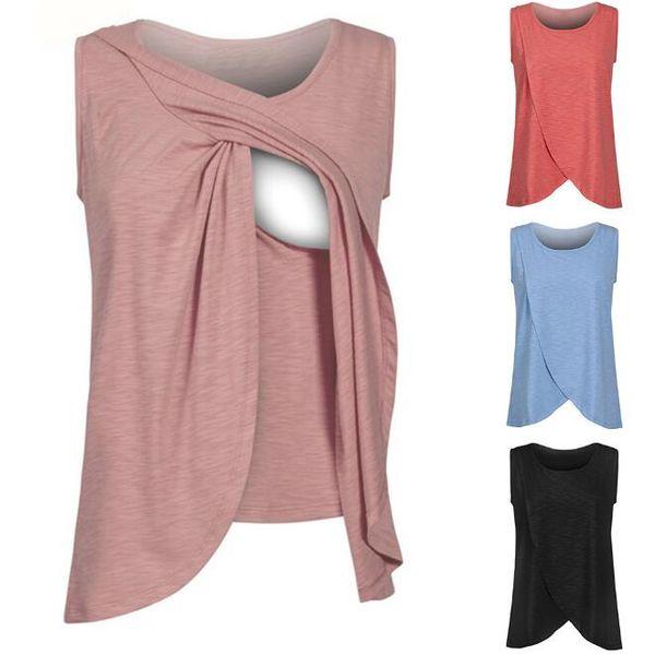 Kolsuz emzirme bakımı hamile kadınlar için büyük Hemşirelik Tankı Üstleri Emzirme Yelek Giysi Hamile Kadınlar Hemşirelik Gömlek FFA012