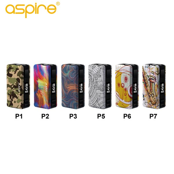 Newest Aspire Puxos Mod 100% original 80W 100W excluded 21700/20700/18650 battery suport Wattage Voltage Bypass CPS TC Vape Modes