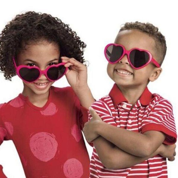 Fashionable Heart Shape Sunglass Plastic Frame UV400 Mirror Unisex Sun Glass Lovely Children Adults Eyewear For Travel 2018 New