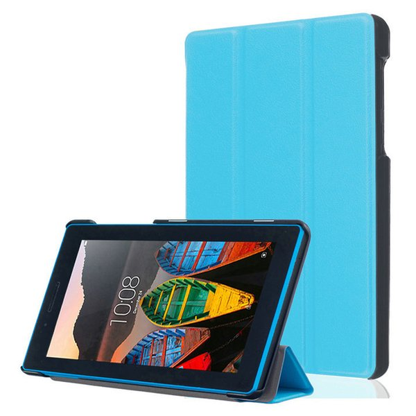 """Casual Solid PU Leather Stand Case Protective Funda Cover For Lenovo Tab3 730M 7"""" Tablet Cover Case"""