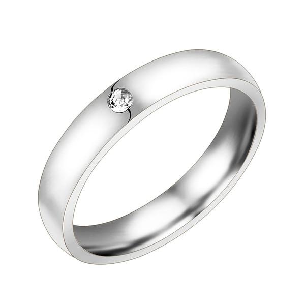 Gros-hommes bijoux en acier inoxydable 316L argent / or / or rose avec bague de mariage en zircon pour hommes taille 6-10