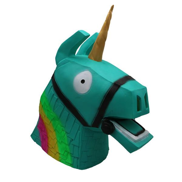 Game Fortnite Llama Mask Rainbow Donkey Latex Headgear Game Fortnight  Cosplay Party Full Head Headgear Drift Masks Hallowmas Costume Toys Black  Party