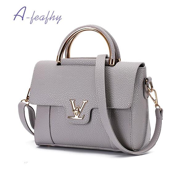 Flap V de cuero de lujo de las mujeres del bolso de embrague bolsos de las señoras de la marca bolsas de mensajero sac a main femme 2017 bolsa y18102203