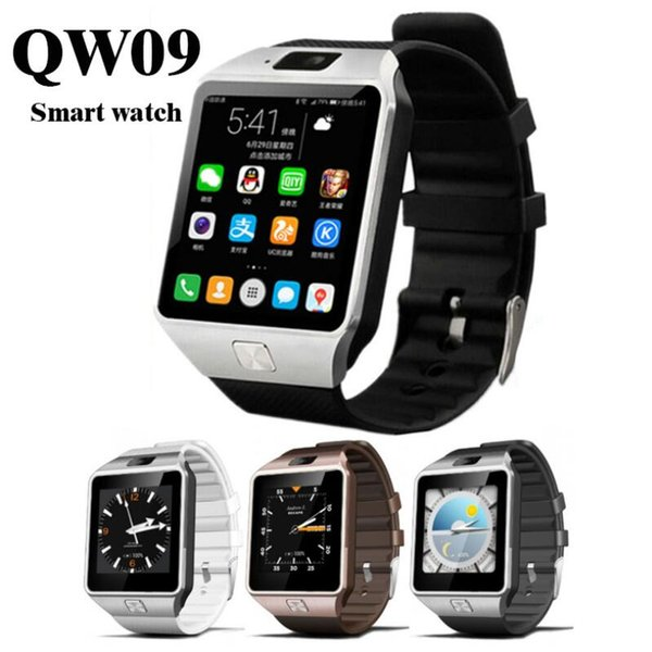 3G WIFI QW09 reloj inteligente Android 512MB / 4GB Bluetooth 4.0 Real-podómetro tarjeta SIM llamada anti-perdida Smartwatch DZ09 versión mejorada