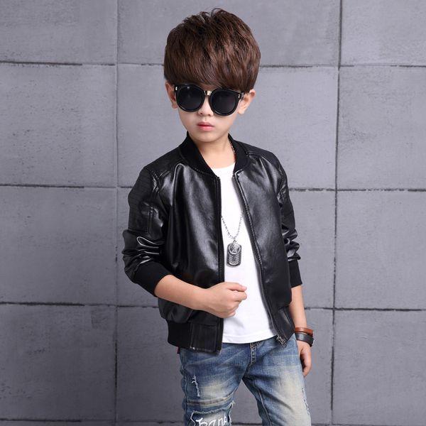new Children/'s leather jacket