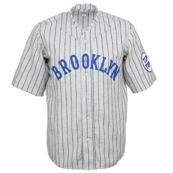 Brooklyn Tip-Tops 1915 Road Jersey Double Stiched Name & Number & Logos For Men Women Youth Customizable