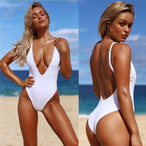 Alto Mujer Espalda Pieza Ropa Retro Sin Monokini 90s Respaldo 2017 Inspirado Una Bikini 80s Baja Corte Jessicache De Moda Compre qGSMVpUz