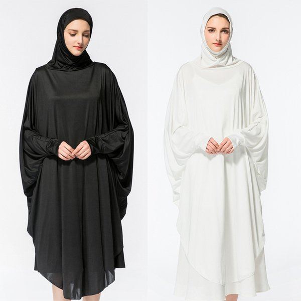 d889fde71d ... Islamic Abayas Jilbab Musulmane Dress Vestidos Longos Clothing.  US 15.08  Piece. 1 Orders. Women Muslim Worship Clothes Lady Bat Sleeve Hooded  Robe
