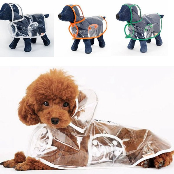 Brand Dog Raincoat Transparent Small Dogs Rain Coat Waterproof Puppy Raincoats Rainwear Summer Pet Clothes Dog Supplies 3 Designs YW1003