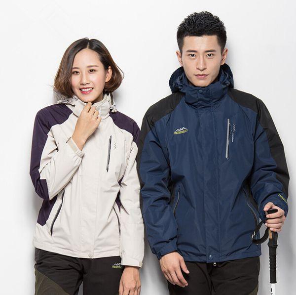 Jackets men and women plus size three-in-one windproof waterproof outdoor mountaineering suit