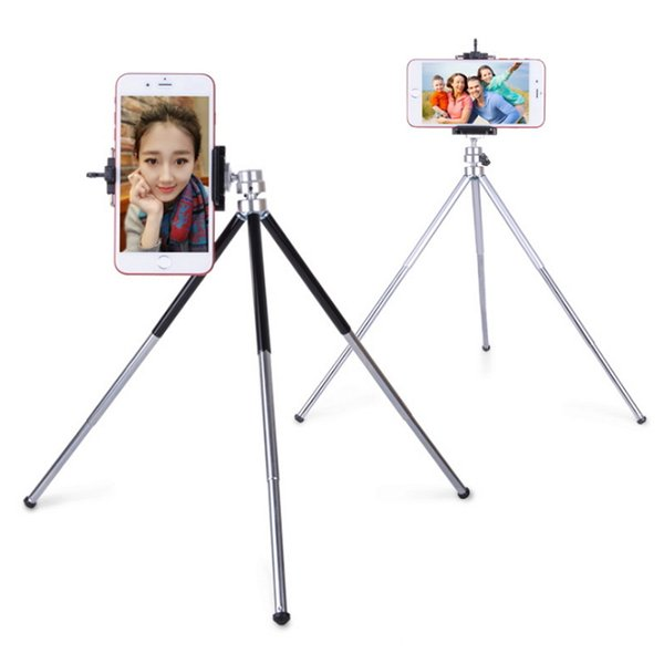 Universal Retractable 3 Sections Adjustable Legs Mini tripod stand Aluminum Camera Extendable Monopod For Camera Camcorder Smartphone