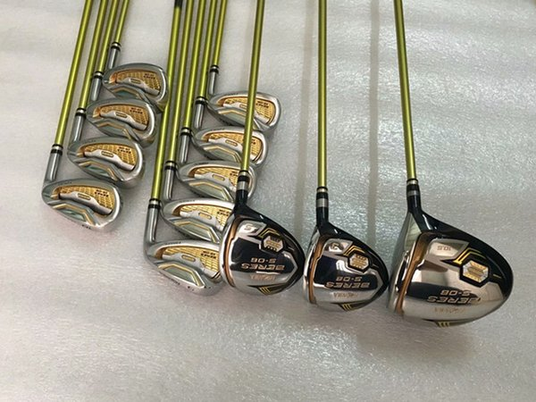 3 Star Honma S-06 Golf Set Honma S-06 Golf Complete Set Golf Clubs Driver + Fairways + Irons + Putter R/S-Flex Shaft With Head Cover